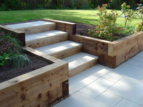 retaining walls using wood apple landscape jhb cc apple. Black Bedroom Furniture Sets. Home Design Ideas